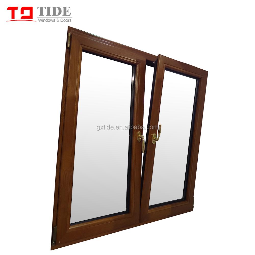 Tilt Turn Aluminum Clad Wood Window With Internal Blinds