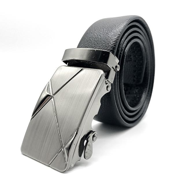 Custom Wholesale Automatic Sliding pu Belt automatic buckle belt pu mens belt