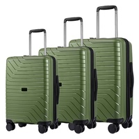 Wholesale Custom High Quality Travel Trolley Set Bag Hard shell Case 3 Pcs PP Hardside Luggage