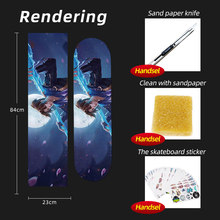 ARDEA скейтборд песок бумага 84*23 см скутер палуба Griptape абразивная бумага Электрический двойной рокер скейтборд доска сцепление лента скейт(Китай)