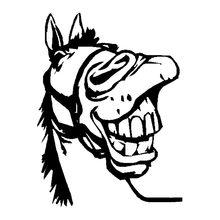 Volkrays индивидуальная Автомобильная наклейка забавная лошадка клониш аксессуары Водонепроницаемая Светоотражающая виниловая наклейка чер...(Китай)