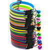 Neck adjustable 12 colors reflective cheap cat collar with bell
