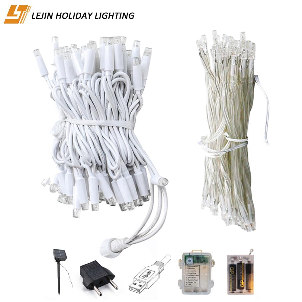10m PVC rubber led Tree led String Lights Flashing outdoor christmas LED String Fairy Light