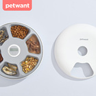 Modern home Style 6 meals Auto Pet Feeder Bowl For Dogs and Cats suit for wet food Ice bag keep food fresh