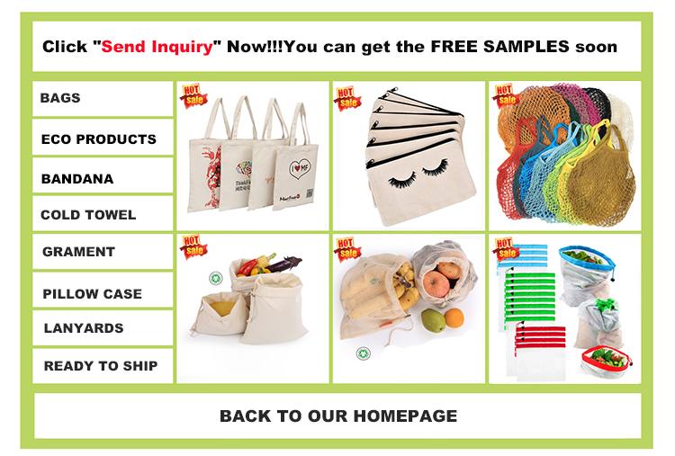 재사용 식료품 쇼핑 과일 및 야채 Drawstring 100% 코튼 메쉬 가방 그물 가방 금속 스프링 버클