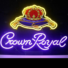 New Crown Royal Nyata Fleksibel Lampu <span class=keywords><strong>Neon</strong></span> Tanda Rumah Display Bir Bar Pub Advertising Sign
