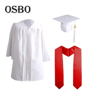 Wholesale customize kids graduation gowns and caps with stole origin for sale