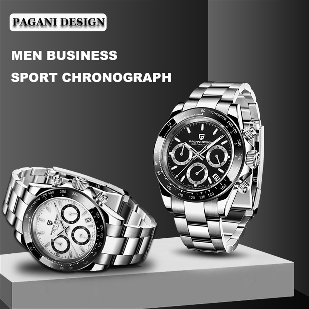 2020 PAGANI DESIGN PD-1644 Luxury Watch for Men VK63 Movement Minimalist Fashion Sport Quartz Men Watch relojes