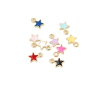 small color enamel star charms DIY tiny metal star charms for bracelet little star charms jewelry accessories
