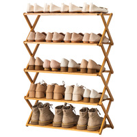 Amazon top selling Portable no assembly Multi Tire Foldable amazing wooden bamboo shoe racks for home