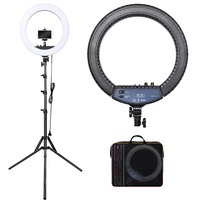 FOSOTO RL-18II Photographic Lighting 3200-5600K 512 Led Ring Lamp Camera Photo Studio Phone Makeup Ring Light with tripod stand