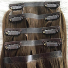 100% human hair made invisible seamless clip in hair extensions OEM