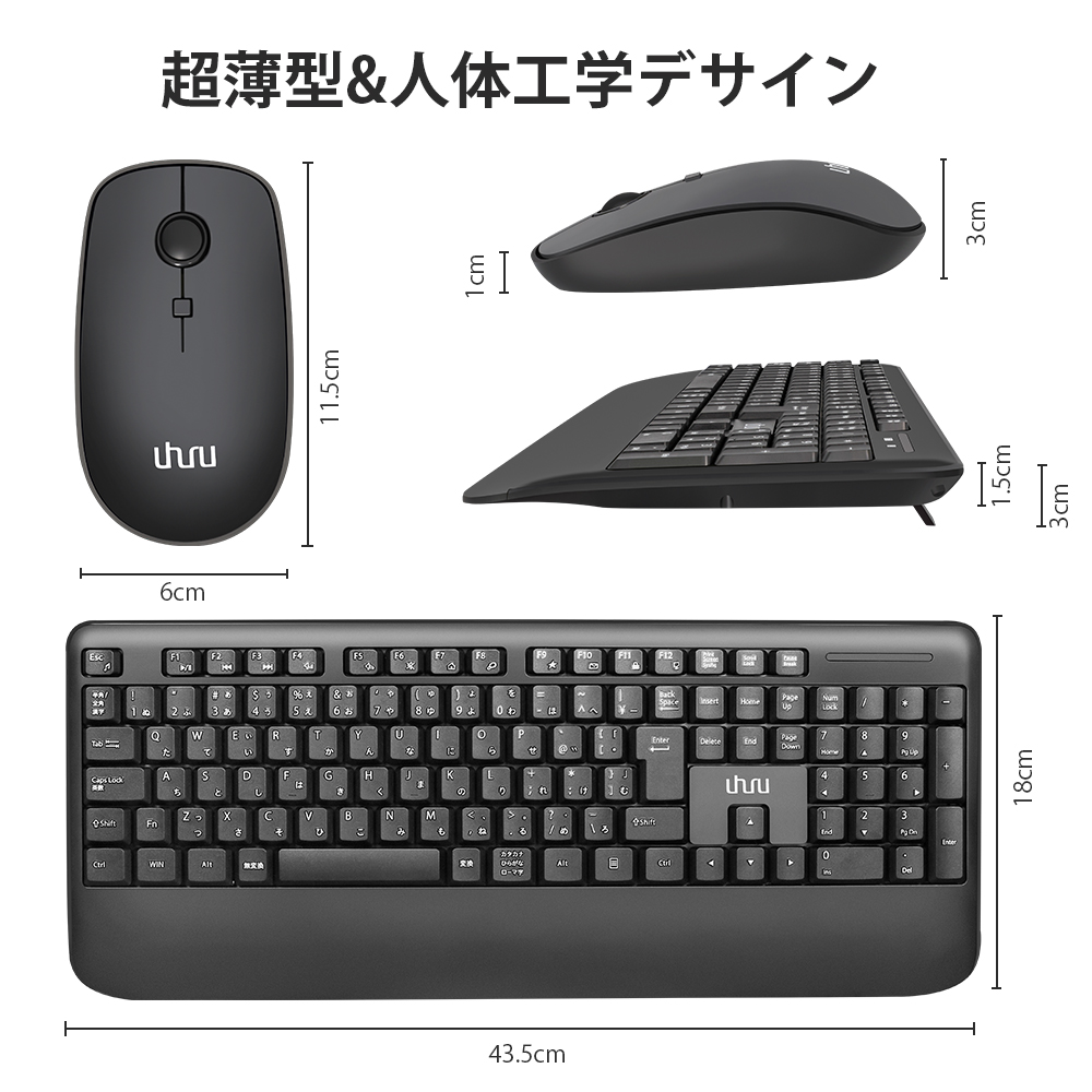 Wireless 2.4Ghz Office Use Keyboard and Mouse Set BT3.0 wireless Blue tooth Mouse