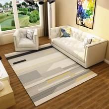 Скандинавский современный ковёр коврик для гостиной, абстрактный геометрический деревянный напольный коврик, противообрастающий ковер дл...(Китай)