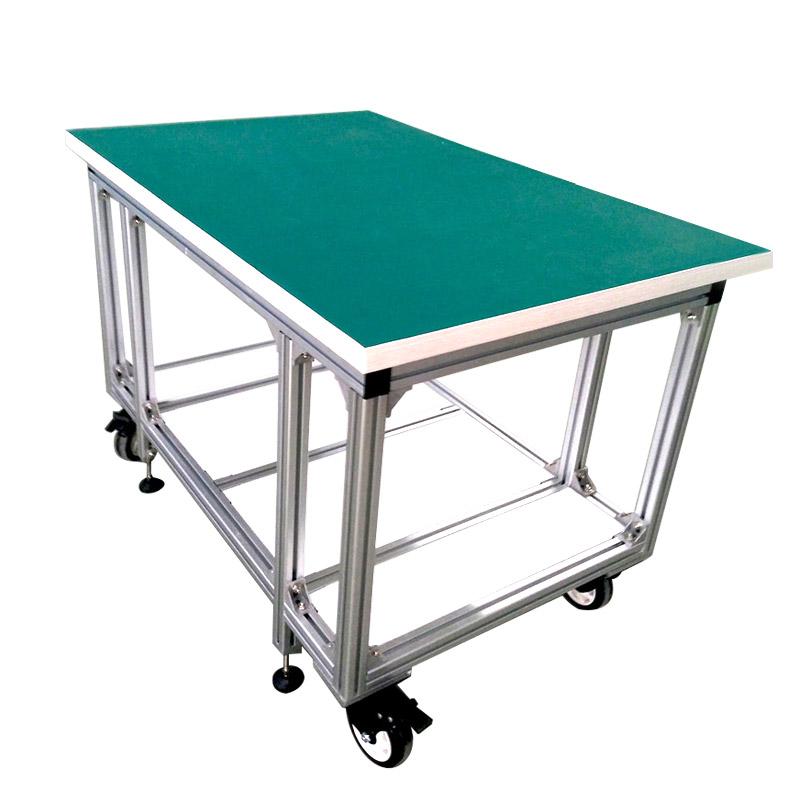アルミニウムプロファイルまたはリーンパイプ作業ベンチによるOEM柔軟な組み立て作業テーブル