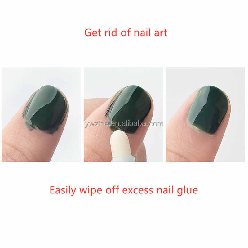 1Pc New 4 Color Gel Nail Art Polish Remover Mistakes Cleaner Corrector Pens Dissolving Varnish UV Gel Manicure Tool