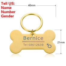 Персонализированный брелок для кошек и собак, ярлык для удостоверения личности, выгравированное имя для питомцев, ошейник для кошек и щенко...(Китай)