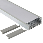 100x35mm LED aluminum profile wide channel for office linear light customized engineering aluminum with plastic led profile