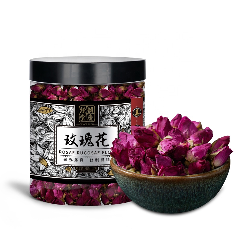 Chinese Herbal Natural Rose Floral Tea 50g / Bottle No Sulfur Beauty Organic Rose Bud Tea Dried Blooming Tea - 4uTea | 4uTea.com