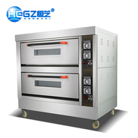 2019 Commercial Bakery Equipment 2-Layer 4-Tray Industrial Gas Ovens