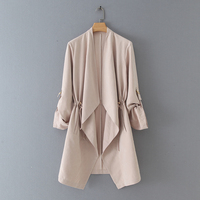 High street style design open stitch foldable sleeve autumn women's jackets & coats