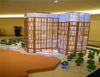 New design house primary middle school buildings projects miniature models