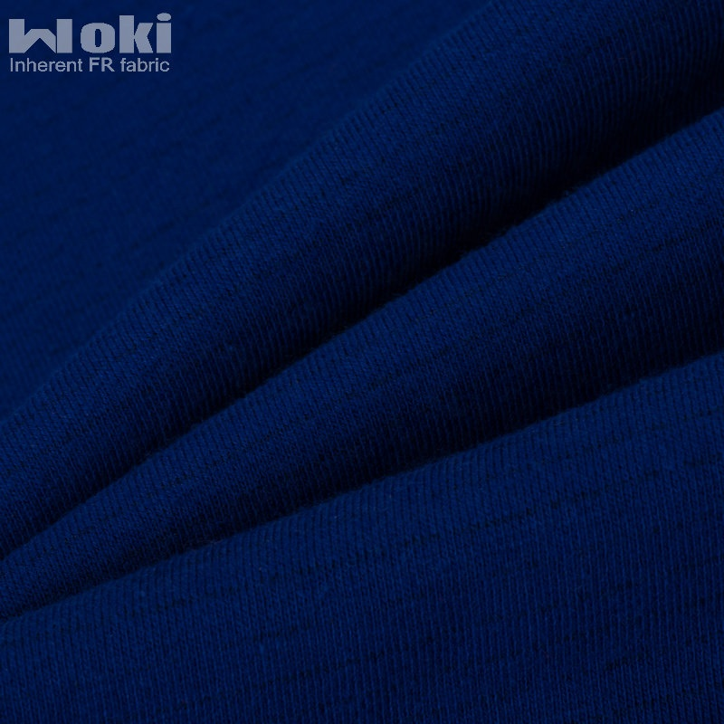 Modacrylic Cotton Inherent FR Knitted Single Fleece Fabric