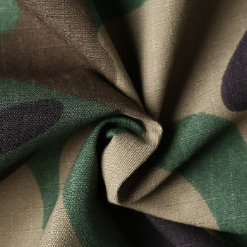 Army Military Uniform Poly Cotton Anti-abrasion Ripstop Camo Fabric