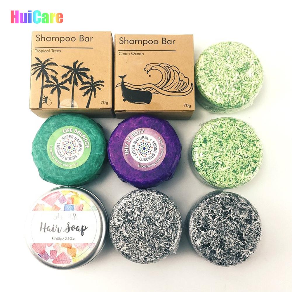 Anti-Dandruff Hair Soap Shampoo Bar Organic Vegan Soap Bar Shampoo Tin Box Gift Set Natural Bubble Solid Shampoo Bar
