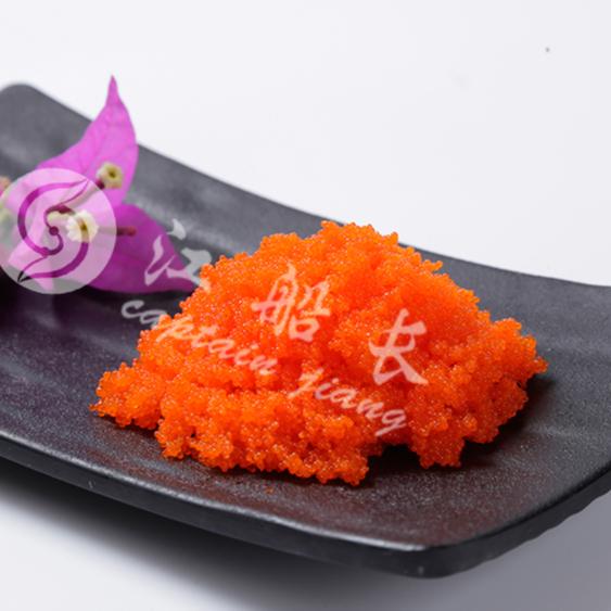 Frozen seasoned capelin roe halal masago caviar