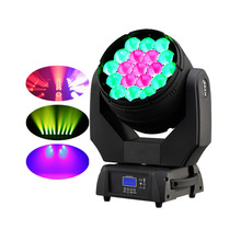 Disco licht prachtige wassen <span class=keywords><strong>effect</strong></span> plus brede zoombereik 4IN1RGBW19X15w led moving head light + 3 zones controle + beam + voor projectoren