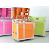 Colorful Red Blue Green Mobile Flight Case for cafeteria kitchen refrigerator