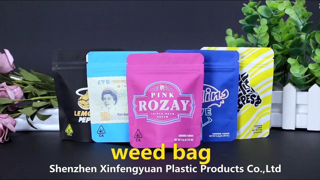 Logotipo personalizado cheiro mylar à prova de saco zip lock para embalagens de cânhamo erva sacos de embalagem de plástico