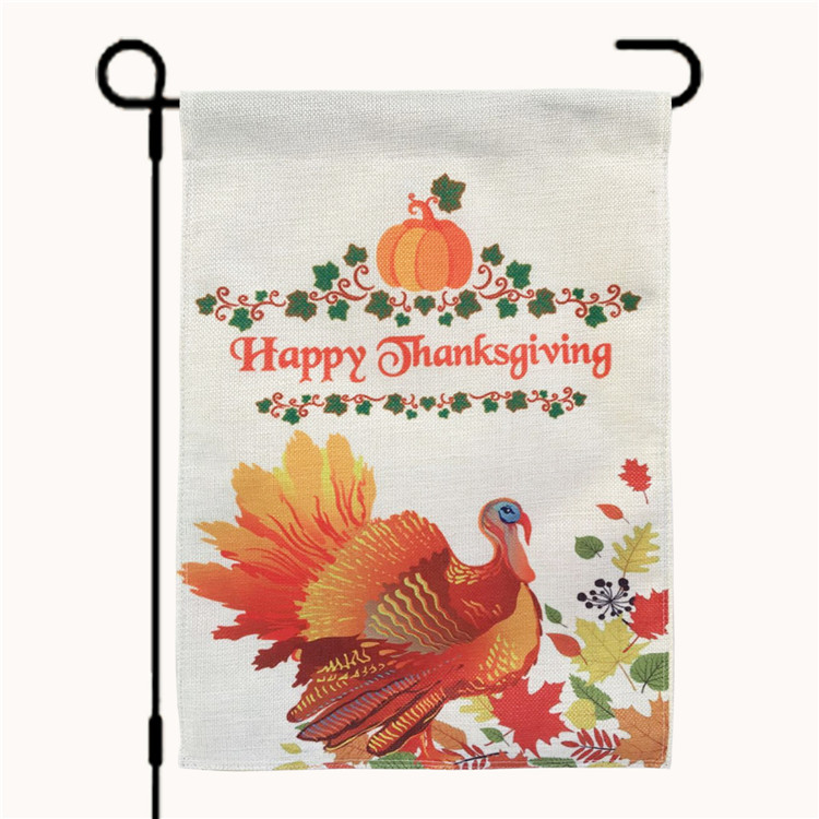 Happy Thanksgiving Double Side Turchia Cotone Giardino Bandiera/Bandiera Per Il Ringraziamento Decorazione