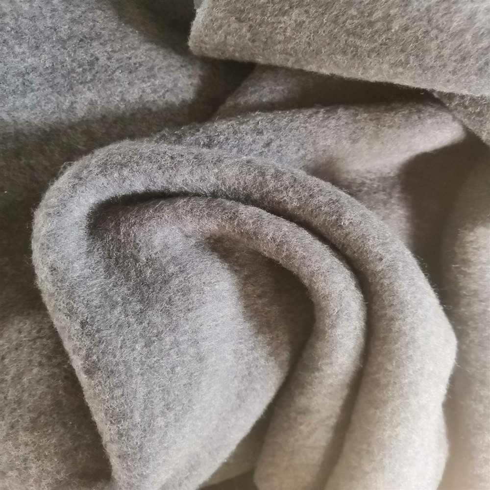 100% Merino wool double side fleece fabric super soft baby clothes fabric