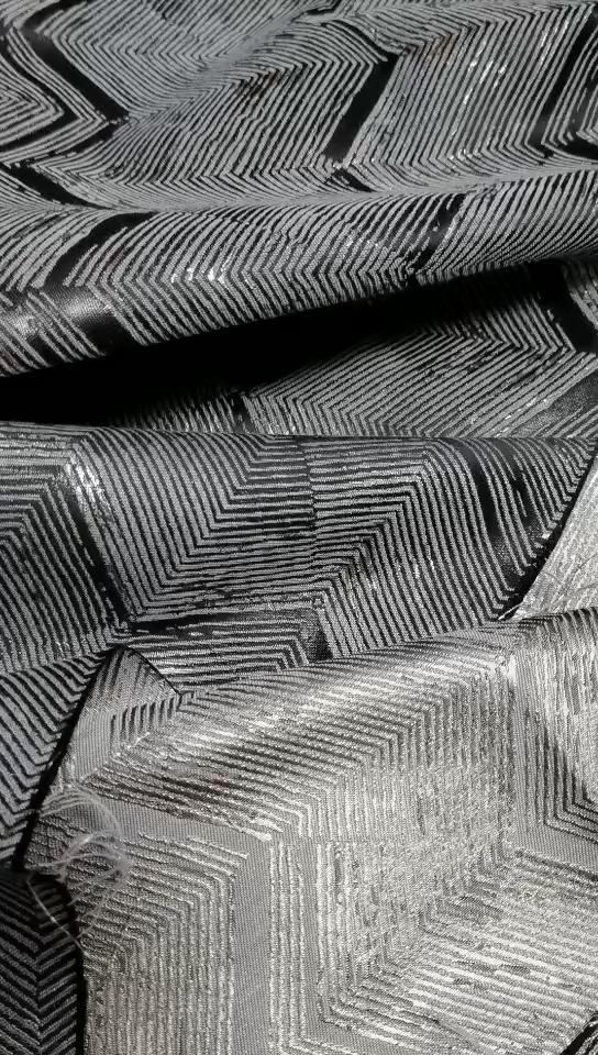 スーパーソフト & スムースメタリックポリエステル/綿生地カーテン生地繊維原料生地