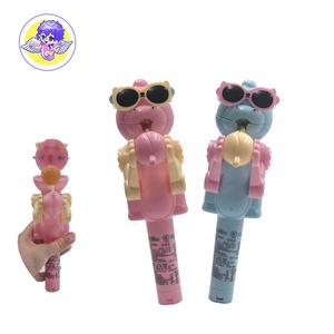 newest creative personality candy toy lollipop holder robot for kids