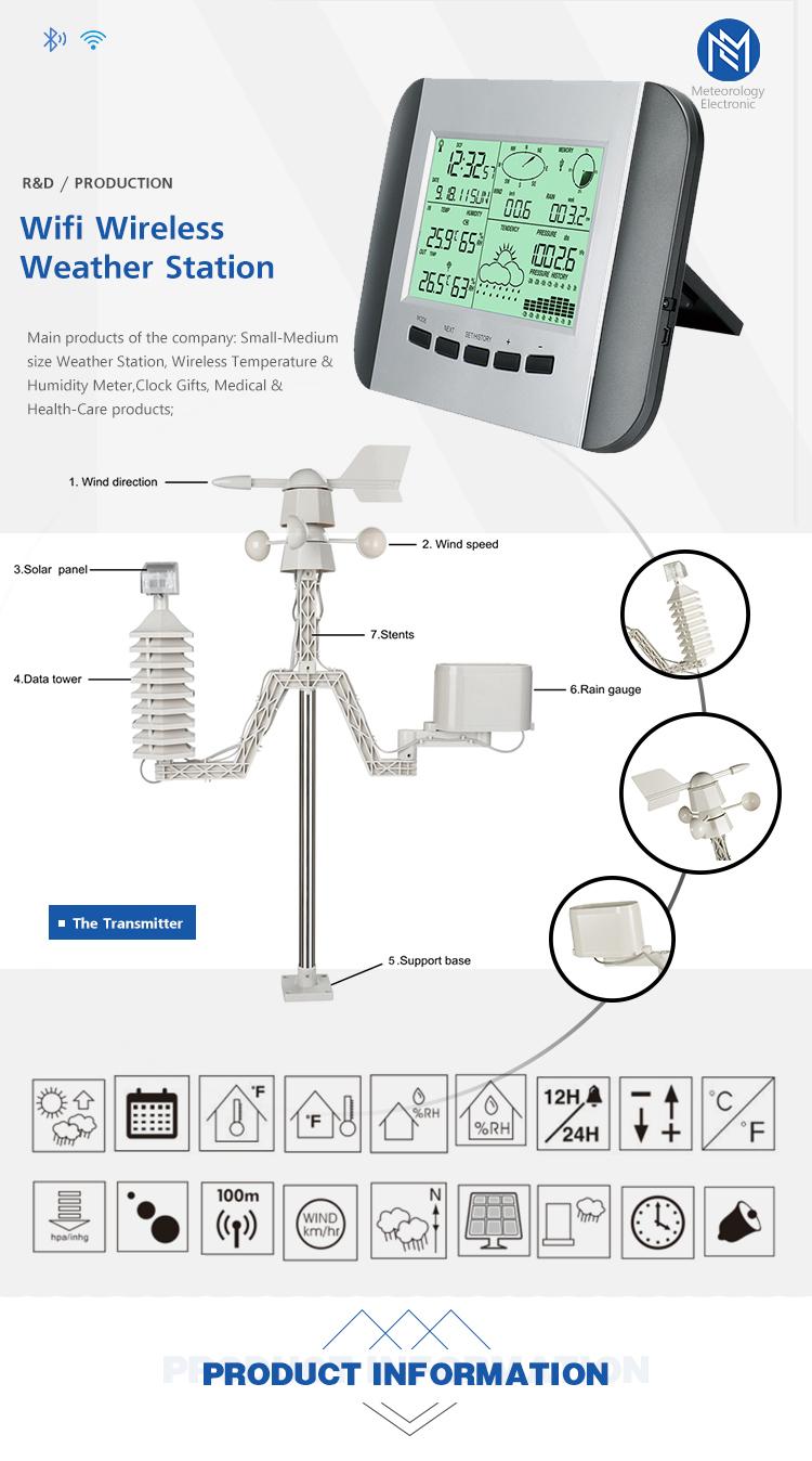 Özel Tasarım Dijital Hava Durumu Yatak Odası Için Hava Istasyonu açık hava sensörü