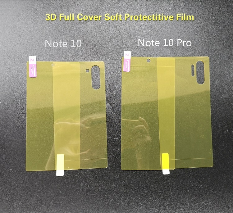 Custom Made 360 Full Edge TPU Screen Protector All Smartphones for Samsung Note 8 S10 Tempered Glass