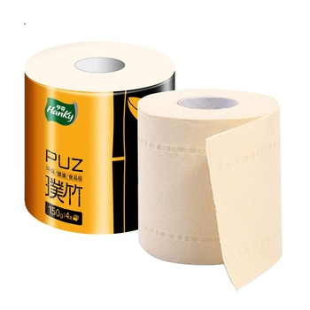 Eco Friendly Bamboo Pulp Plain Toilet Paper 4 Ply Individual Wrapped Toilet Paper Rolls Toilet Tissue
