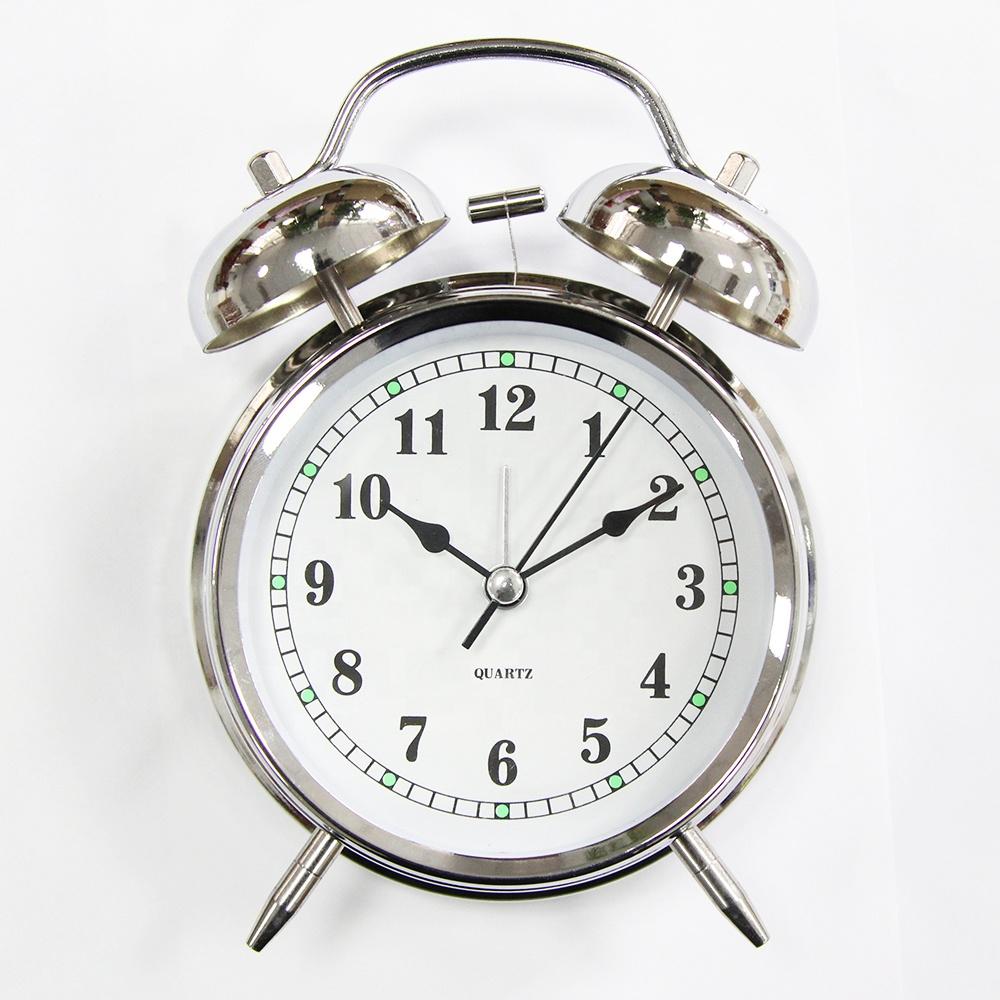 Kamar Tidur Dekorasi Anak Logam Jam Alarm Twin Bell Jam