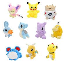 Мини версия Q Пикачу лапрас Dragonite Togepi Psyduck Mewteo Плюшевые игрушки Аниме прототип животных мягкие игрушки для детей(Китай)