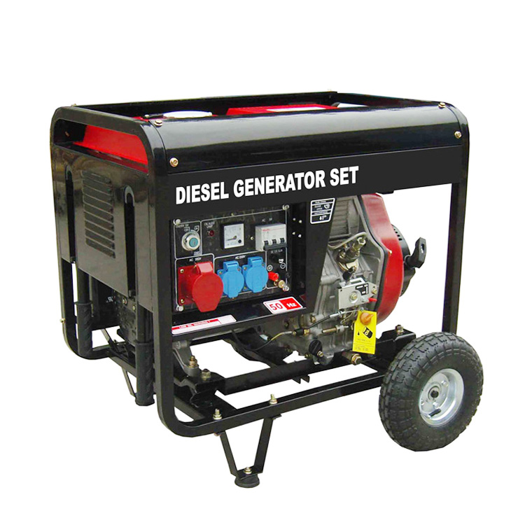 diesel generator 6kv portable standby power genset for home use