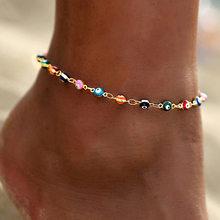 Многослойные ножные браслеты для женщин с золотым сердечком, браслет на щиколотке, очаровательные украшения из бисера для женщин и девушек-...(Китай)