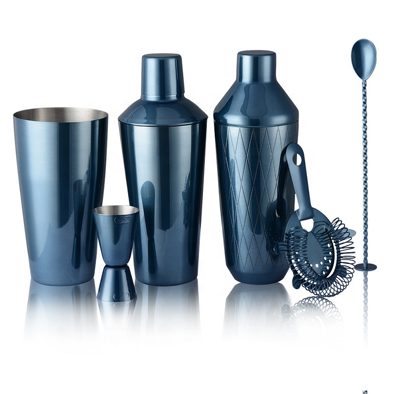 Factory High Quality Unique Custom Logo 304 Stainless Steel Margarita Cocktail Shaker gift sets luxury bar set