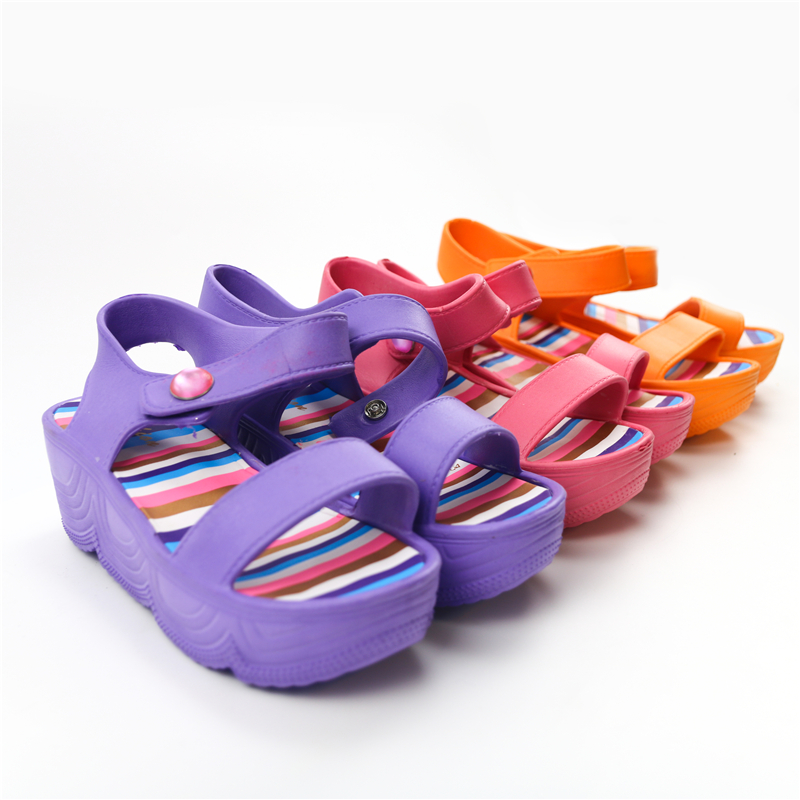Chaozhou China Beach Shoes Women's Casual Beach Slippers Sandals Women's Summer Flat Slope with Platform Women's Sandals
