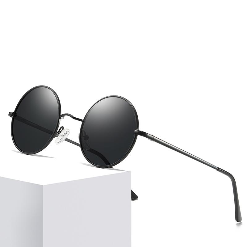 Round Sunglasses Polarized Mirror Sunglasses Oval Sun Glasses For Men Steampunk Eyewear UV400