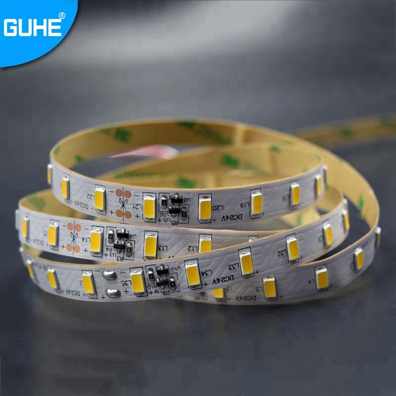 2020 High quality 5630 smd 70leds/m 24v cuttble led flex strip light