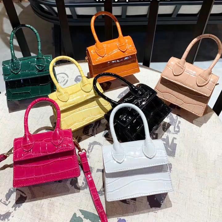 handbags Small 2020 Autumn winter new  crocodile printing PU leather shoulder bag for women kids purse mini handbags