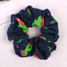 1 шт., шифоновые резинки для волос с фруктовым принтом вишни, эластичные резинки для волос для женщин, держатель для хвоста, веревка, галстуки...(Китай)